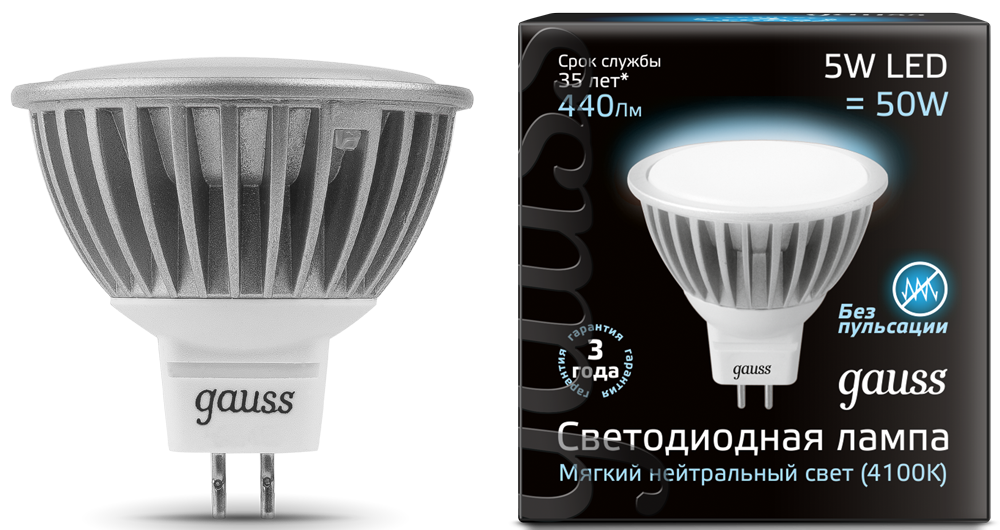 GAUSS LED MR16-GU5.3/MR16-GU10
