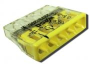 WAGO клемма без пасты на 5 проводов плоская 2273-205