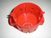 Подрозетник электромонтажный 68х40 красный с ушками GX1001