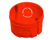 Подрозетник электромонтажный 68х40 красный GX1002