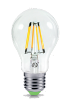 ASD Лампа светодиодная LED-A60-PREMIUM 8Вт 160-260В Е27 3000К 720Лм прозрачная 4690612003214