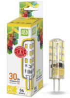 ASD Лампа светодиодная LED-JC-standard 3Вт 12В G4 3000К 270Лм 4690612004624