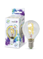 ASD Лампа светодиодная LED-ШАР-PREMIUM 5Вт 160-260В Е14 3000К 450Лм прозрачная 4690612004150