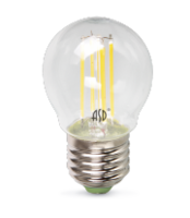 ASD Лампа светодиодная LED-ШАР-PREMIUM 5Вт 160-260В Е27 3000К 450Лм прозрачная 4690612004181