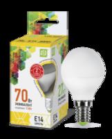 ASD Лампа светодиодная LED-ШАР-standard 7.5Вт 160-260В Е14 3000К 675Лм 4690612003962