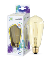 ASD Лампа светодиодная LED-ST64-PREMIUM 6Вт 160-260В Е27 3000К 540Лм GOLDEN 4690612006086