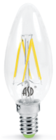ASD Лампа светодиодная LED-СВЕЧА-PREMIUM 5Вт 160-260В Е14 3000К 450Лм прозрачная 4690612003252
