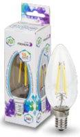 ASD Лампа светодиодная LED-СВЕЧА-PREMIUM 5Вт 160-260В Е14 4000К 450Лм прозрачная 4690612003504