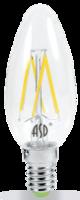 ASD Лампа светодиодная LED-СВЕЧА-PREMIUM 7Вт 160-260В Е14 4000К 630Лм прозрачная 4690612005324