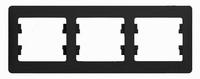 Schneider electric GLOSSA 3-постовая РАМКА, горизонтальная, АНТРАЦИТ GSL000703