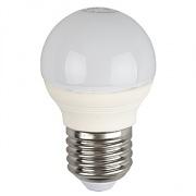 ЭРА лампа светодиодная шарик P45 5W Е-27 теплый 827