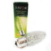 FAVOR Лампа накаливания ДС Е27 40W прозрачная 230V B36