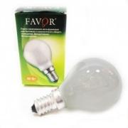 FAVOR Лампа накаливания ДШМТ Е14 60W матовая 230V P45
