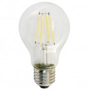 FERON лампа светодиодная тип А-60 прозрачная Е-27 7W филамент холодная белая LB-57 6400К