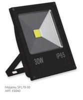 FERON прожектор светодиодный черный 30W IP65 6400K SFL70-30