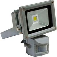 FERON прожектор светодиодный с датчиком квадратный 10W 6400K IP44 серый LL-222