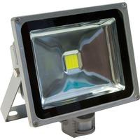 FERON прожектор светодиодный с датчиком,прямоугольный 1LED*30W IP44 серый LL-232