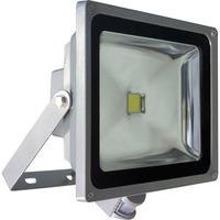 FERON прожектор светодиодный с датчиком,прямоугольный 1LED*50W IP44 серый LL-233