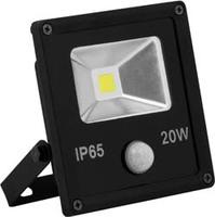 FERON прожектор светодиодный с встроенным датчиком,квадратный 1СОВ*20W 6400K IP65 черный LL-861