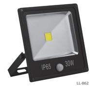 FERON прожектор светодиодный с встроенным датчиком,квадратный 1СОВ*30W IP65 черный LL-862
