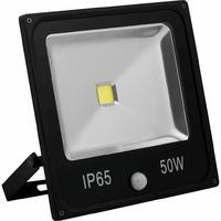 FERON прожектор светодиодный с встроенным датчиком,квадратный 1СОВ*50W IP65 черный LL-863