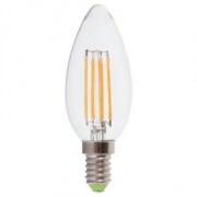FERON свеча светодиодная прозрачная E-14 5W филамент холодная белая LB-58 6400К