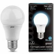 Gauss лампа светодиодная ЛОН А60 Е-27 7W холодная 4100K 102502207