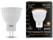 Gauss лампа светодиодная MR11 GU4 3W теплая 2700К 132517103