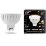 Gauss лампа светодиодная MR16 GU5.3 7W теплая 2700К 101505107