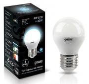 Gauss лампа светодиодная шар матовый Е-27 4W холодная 4100K 105102204