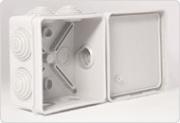 Промрукав коробка распаячная для о/п 80х80х40 40-0210