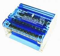 """TDM Шина """"N"""" нулевая на DIN-рейку в корпусе 4х11групп SQ0801-0010"""