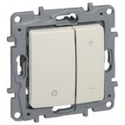 Legrand ETIKA Диммер регулятор света 400Вт нажимной крем механизм 672318