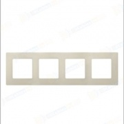 Legrand ETIKA Рамка 4-я крем 672514