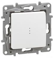 Legrand ETIKA Выключатель 1кл. прох. с подсв. белый механизм 672215