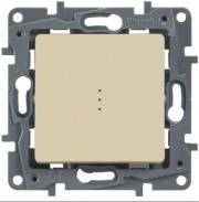 Legrand ETIKA Выключатель 1кл. с подсв. крем механизм 672303