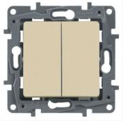 Legrand ETIKA Выключатель 2кл. крем механизм 672302