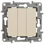 Legrand ETIKA Выключатель 3кл. крем механизм 672313