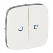 Legrand Valena ALLURE лицевая панель для 2кл. выключателя с подсв. белая 755225