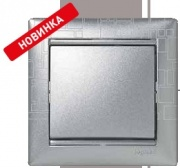 Legrand Valena рамка 1 пост алюм. модерн (4) 0341