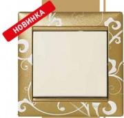 Legrand Valena рамка 1 пост зол. барокко (5) 0020
