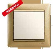 Legrand Valena рамка 3 поста мат. золото (1) 0303