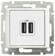Legrand Valena Розетка USB 2-ая белая 770470