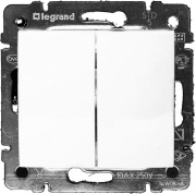 Legrand Valena Выключатель 2кл. белый 774405