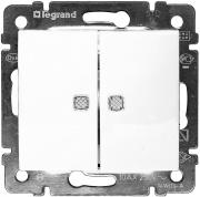 Legrand Valena Выключатель 2кл. с подсв. белый 774428