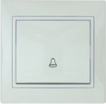 Lezard MIRA кнопка звонка белая 701-0202-103