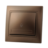 Lezard MIRA кнопка звонка Светло-коричневый металлик 701-3131-103