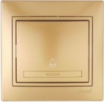 Lezard MIRA кнопка звонка Золото 701-1313-103