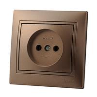 Lezard MIRA розетка б/з Светло-коричневый металлик 701-3131-121