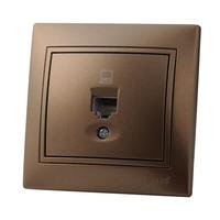 Lezard MIRA розетка КОМПЬЮТЕР Светло-коричневый металлик 701-3131-139
